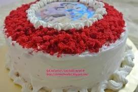 Red Velvet Cake / Kek Baldu Merah + Krim Keju