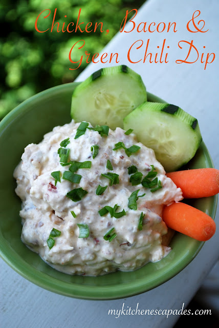 chicken bacon and green chili dip