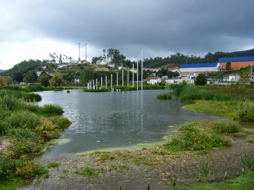 Lago do Parque da Cidade de vale de Cambra