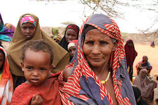 Somalian grandmother and grandson by Trocaire