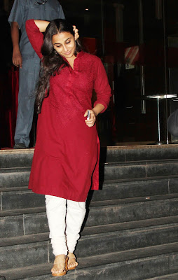 Vidya Balan with Huby Snapped At Special Screenin g of Ghanchakkar