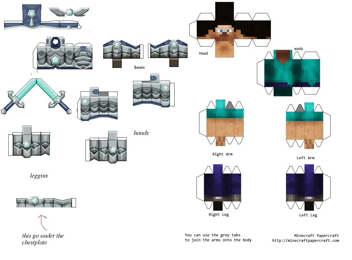 Paper craft Mexico: minecraft papercraft
