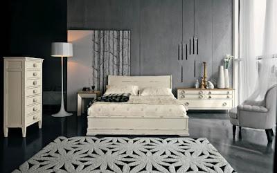 Dormitorio paredes grises