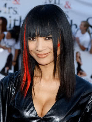 hairstyles for women in their 20s. Bai Ling long bob haircut.