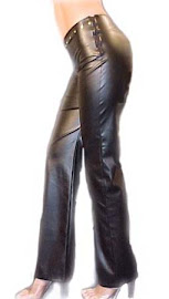 Pantalón simil Cuero Elastizado c/ tachas
