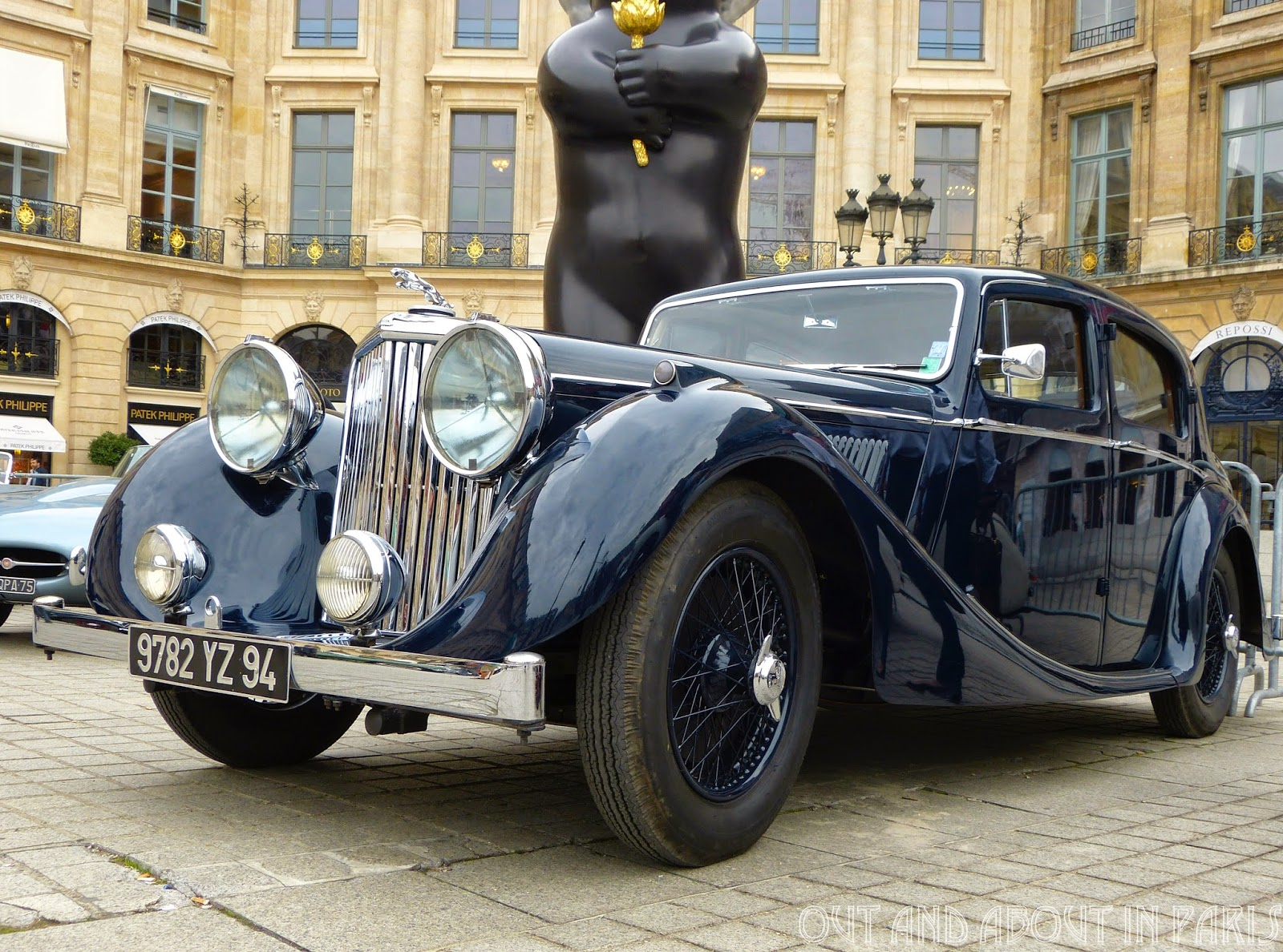 Paris-Deauville Rally -- Exhibition of vintage cars at the Place ...