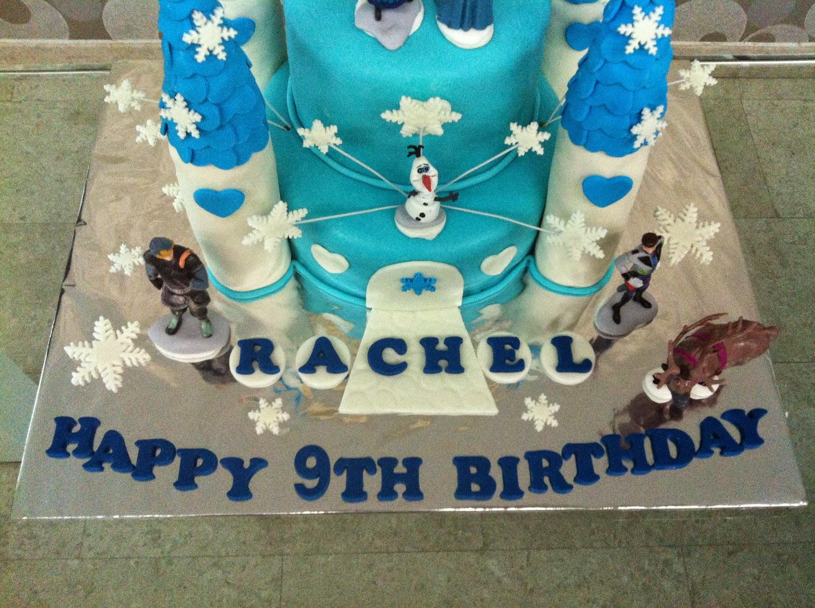 Baking Bees Frozen Design 1 Frozen Castle Cake For Rachel