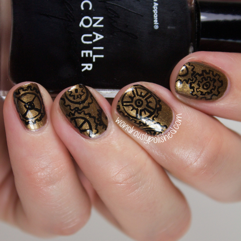 Wondrously Polished 31 Day Nail Art Challenge: Wondrously Polished: 31 Day Challenge 2.0, Day 7: Metallic