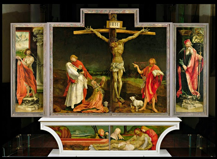 Matthias Grunewald's The Crucifixion in the Isenheim Altarpiece, c1512-1515.