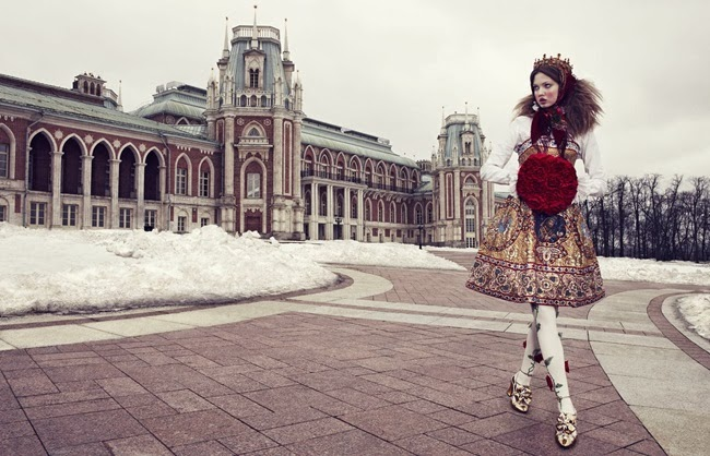 Dolce & Gabbana 2013 AW Embroidered Strapless Dress