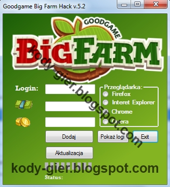 kody do gry big farm