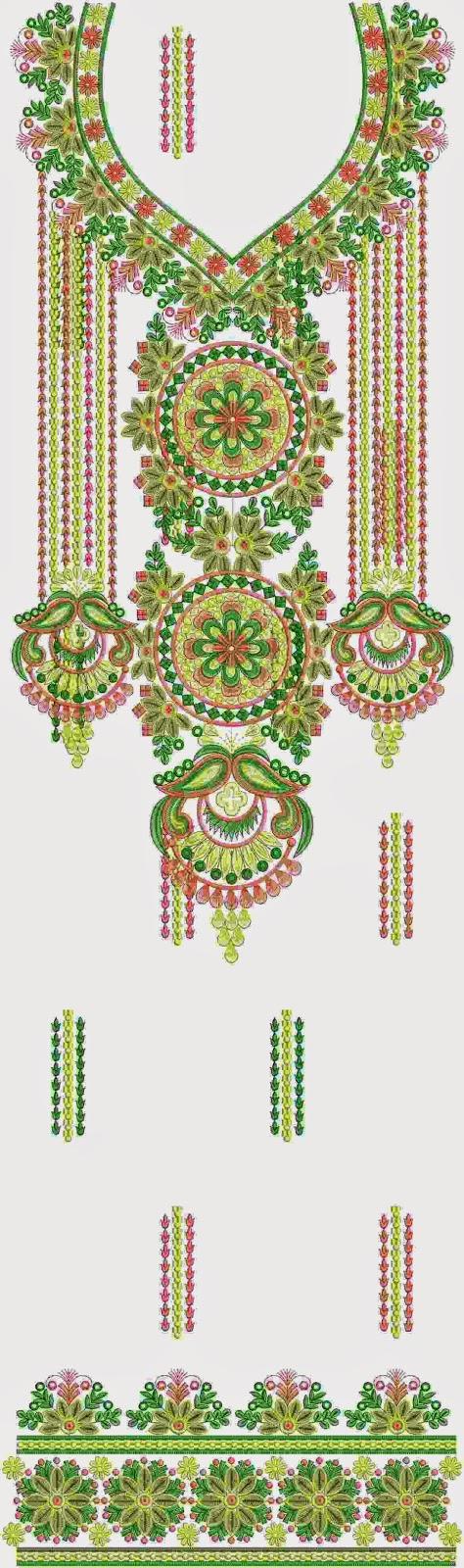 Bernina mode borduurwerk Kurti