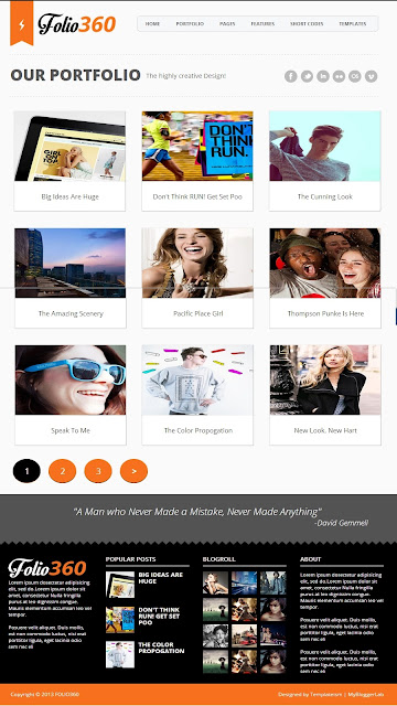 Template for blogger 2013 folio 360