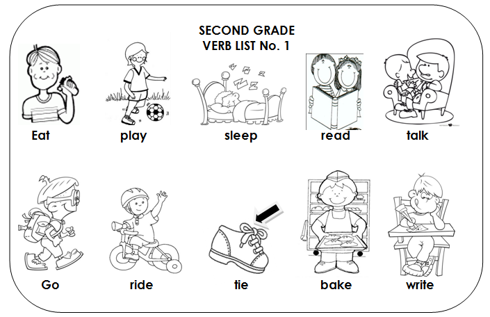 Verb coloring activities coloring pages