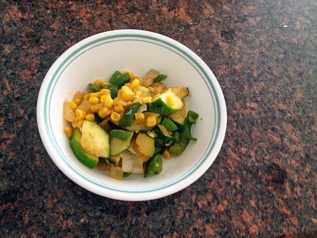 vegan southwestern summer squash saute