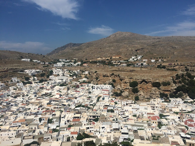 Overlooking Lindos, Rhodes, Greece