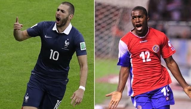 Francia vs Costa Rica en vivo