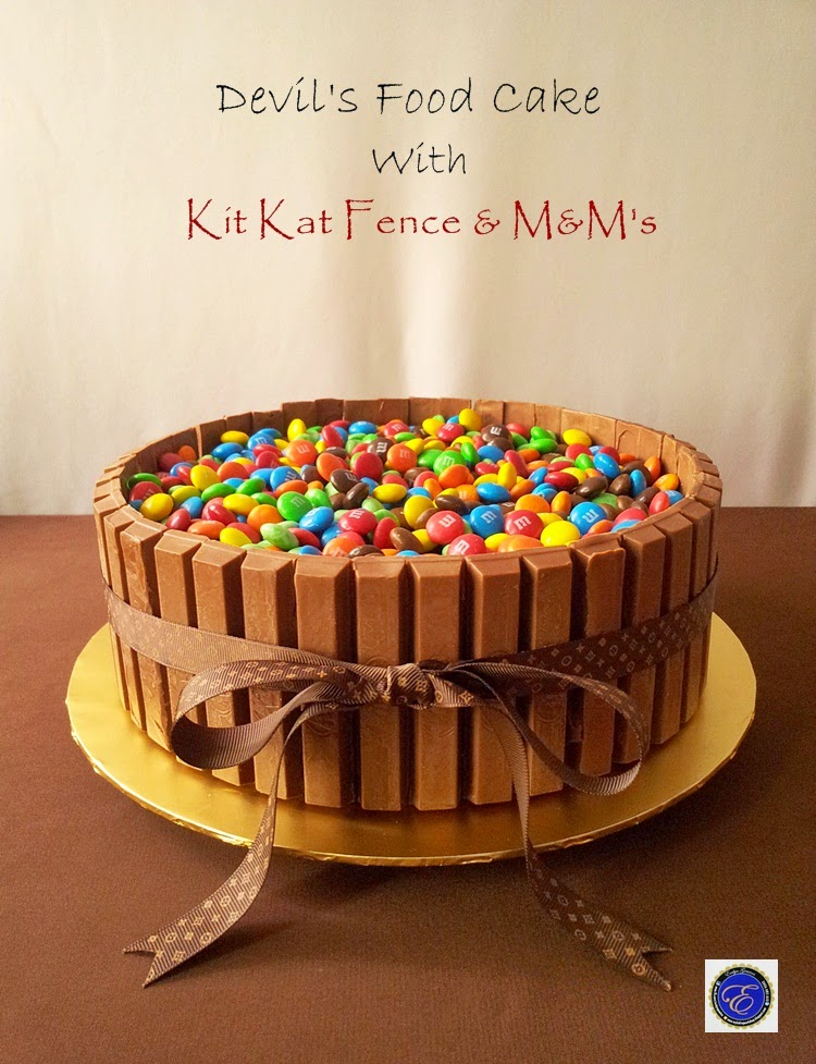 Devil's Chocolate Food Cake with Kitkat & M&M's / 2.5kg