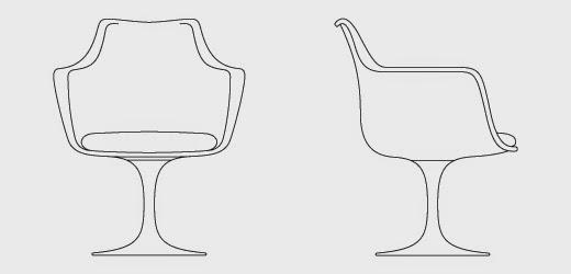 Fiorito interior design history of furniture the tulip collection by eero saarinen - Sedia tulip star ...