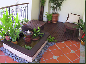recrea pequeos pasajes en la terraza cascadas fuentes lo que tu imaginacin mande