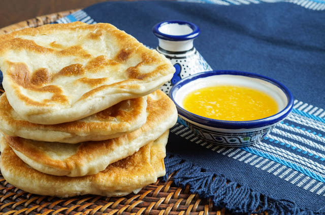 Most Popular Recipe of the Week | Rgaïf- Msemen (Moroccan Square Flat Bread) from Tara's Multicultural Table #SecretRecipeClub #bread #rgaif #recipe #popular