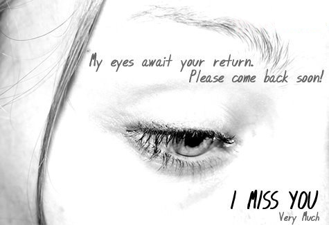 Tears and Miss You Messages For Girlfriend / Boyfriend - My Eyes Wait