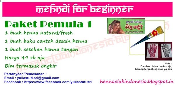 Paket Pemula Henna - Hrg mulai 49 rb aja