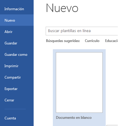 crear documento en word 2013