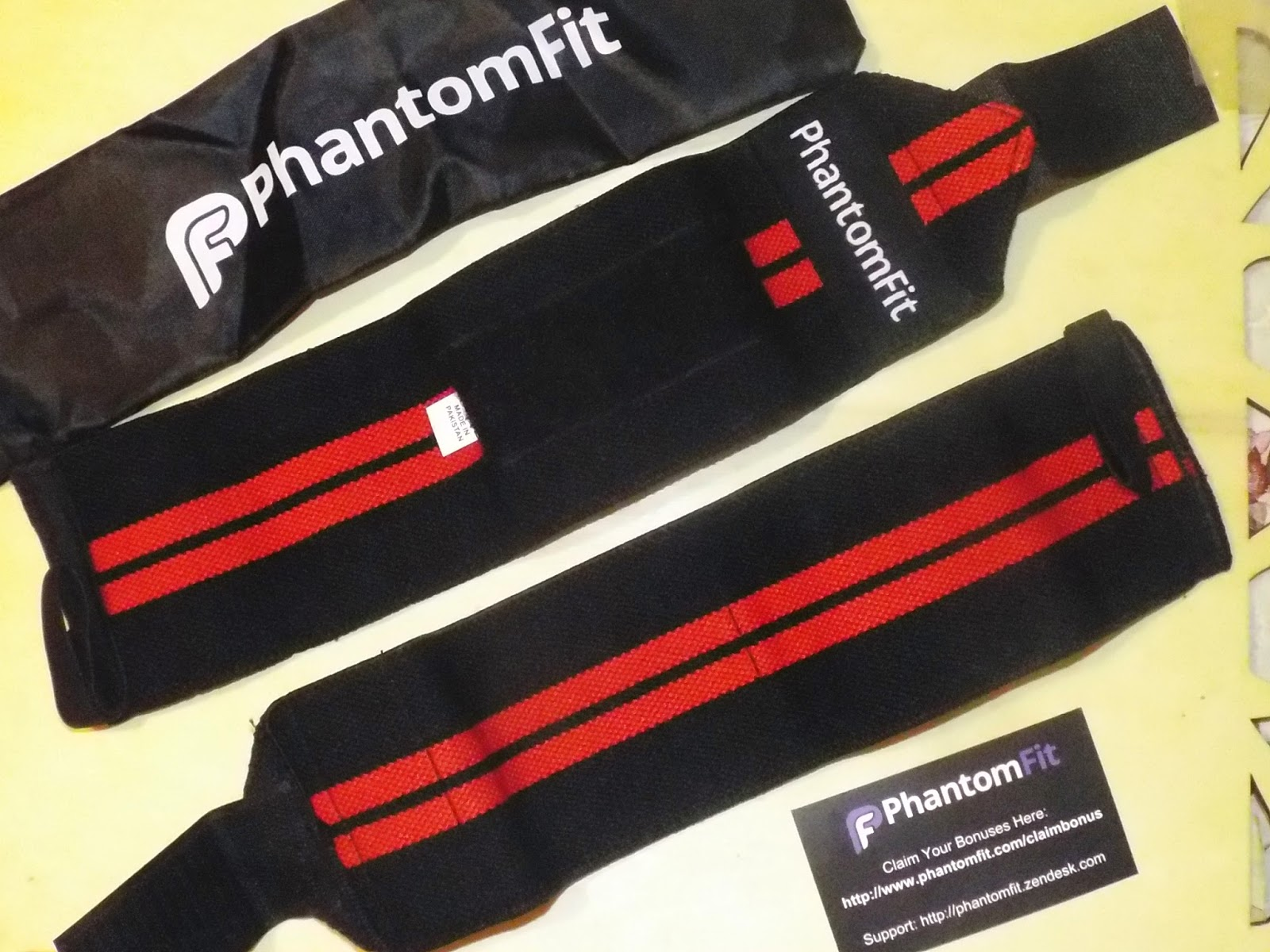 Phantom Fit Wristbands Package