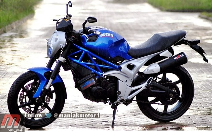 ide modifikasi byson jadi ducati monster