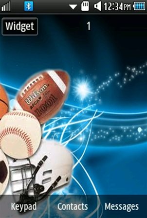 Sports Equipmets Samsung Corby 2 Theme Wallpaper