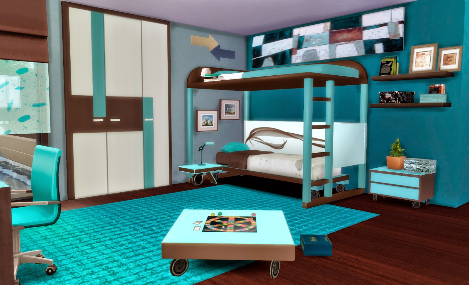 Sims 4 dormitorio ivan for Muebles sims 3