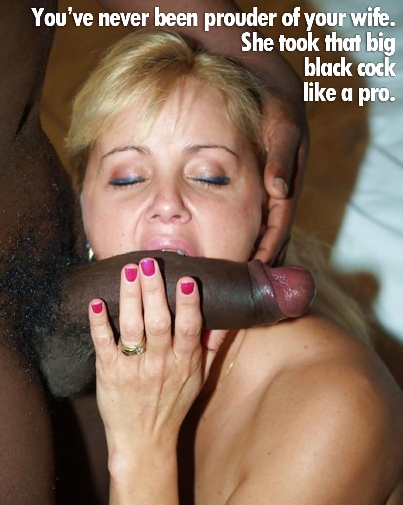 Captions wife sucking cock