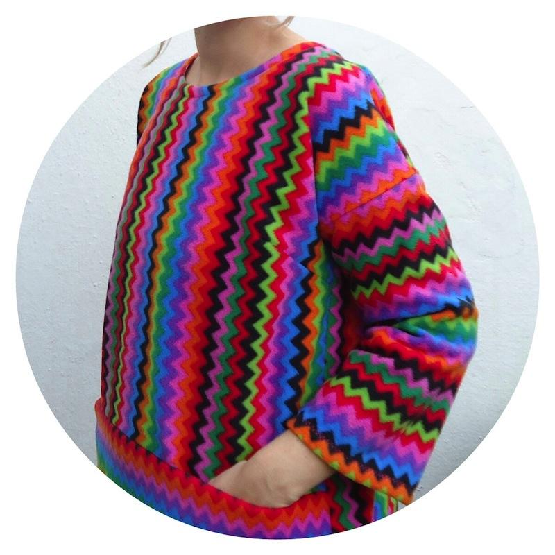 Ottobre Design Art Teacher Dress in fleece by Ivy Arch