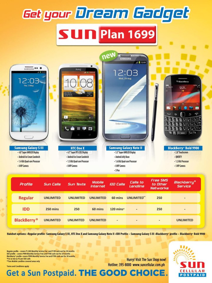 Samsung galaxy note 2 from sun cellular postpaid plan 1699 for Sun mobile plan