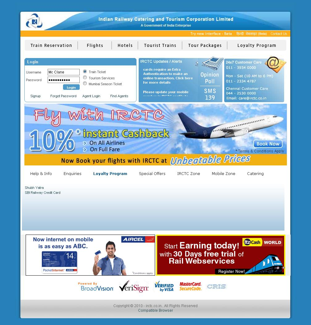 Irctc Co In Online Train Reservation All About Irctc