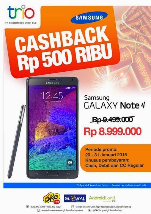 Samsung Galaxy Note 4 Rp 8.999.000