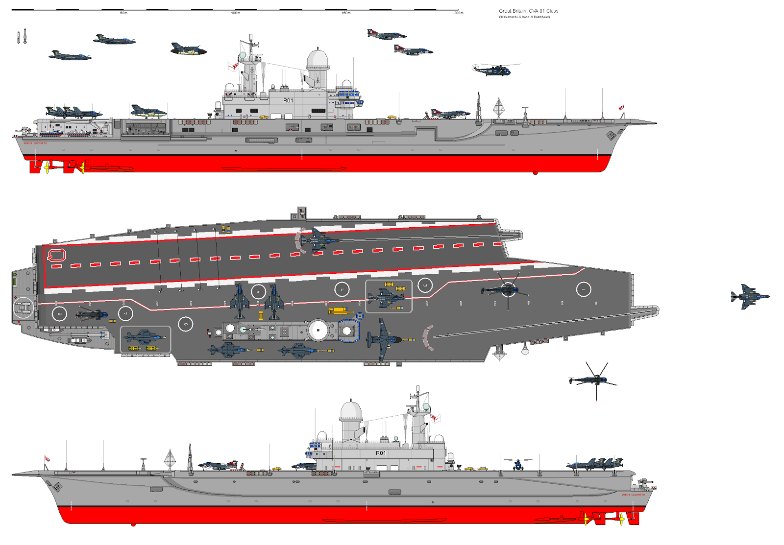 1 350 Scale What If Aircraft Carrier Projects Cont