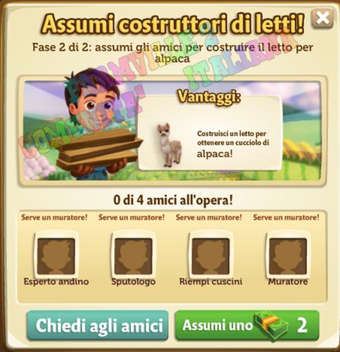 Farmville 2 big harvest una casa per l 39 alpaca for Materiali necessari per costruire una casa