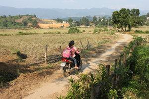 Road in Bản Vền village - Bát Xát