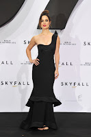 Berenice Marlohe stay classic in a black Armani dress