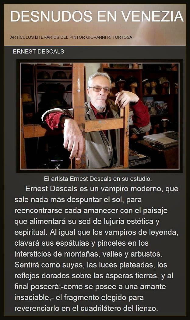 ERNEST DESCALS-PINTOR-PINTURA-ARTICULO-DESNUDOS EN VENECIA