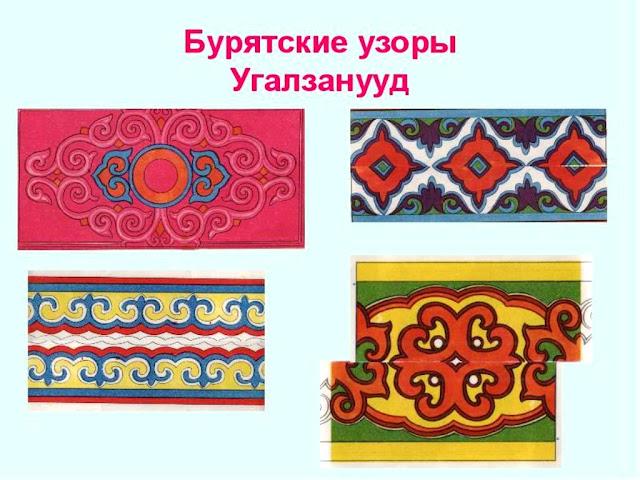 Бурятские узоры и орнаменты трафареты