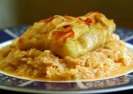 vegetarian hungarian stuffed cabbage roll