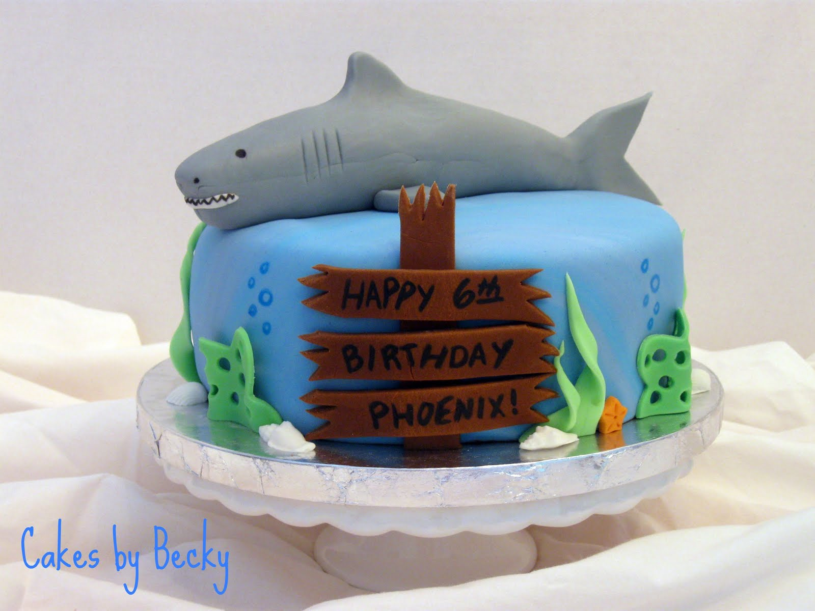Cakes By Becky Shark Birthday