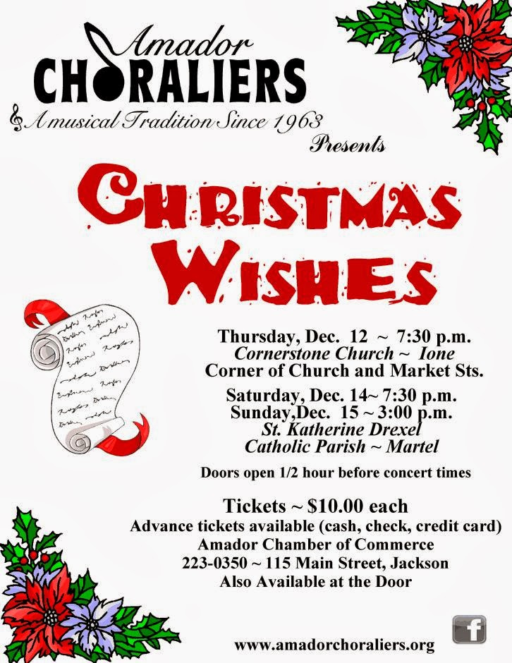 "Amador Choraliers: ""Christmas Wishes"""
