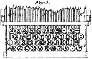 Why QWERTY keyboard layout is like this. Remington N° 2