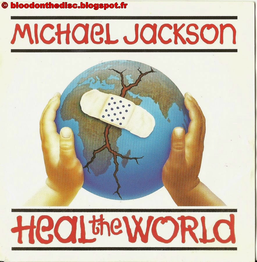 Heal The World 45T Front Cover