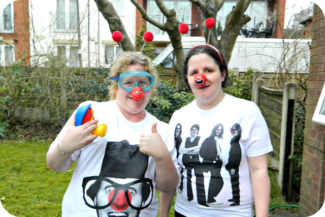 Comic Relief fundraising jelly bath before