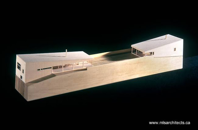 Maqueta de arquitectura residencia de madera en Nueva Escocia